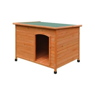 ALEKO Weatherproof Dog Kennel with Elevated Floor 46X31X31 Inches
