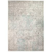 Mohali Vintage Distressed Area Rug in Neutral - 8' x 10'