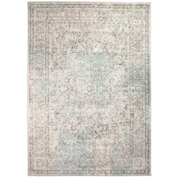 "Mohali Vintage Distressed Area Rug in Neutral, 3' 3"" x 5' - 3'3 x 5'"