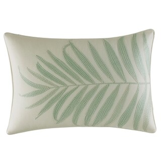 Tommy Bahama Abacos Embroidered Leaf Throw Pillow