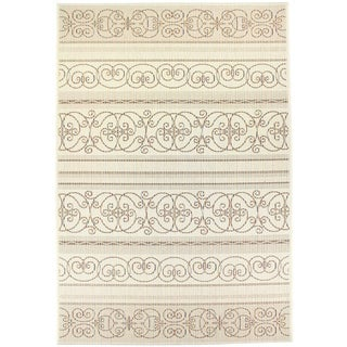 Dynamic Textiles Lanai Cream Indoor/Outdoor Area Rug - 5'3 x 7'7