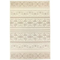 Dynamic Textiles Lanai Cream Indoor/Outdoor Area Rug - 7'10 x 10'10