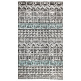 Augur Grey/Blue Indoor/Outdoor Area Rug - 2' x 4'