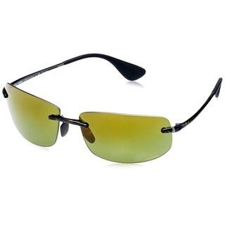 41a61ba9909 Ray-Ban RB4254 Rimless Polarized Green Mirror Chromance 62mm Lens Sunglasses