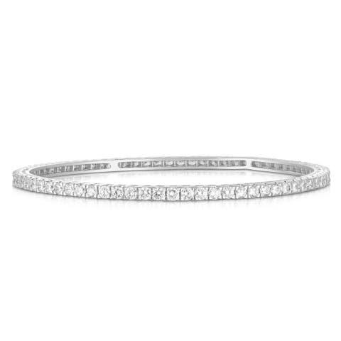 Noray Designs 14K White Gold Diamond (4.50 Ct, G-H Color, SI2-I1 Clarity) Bangle