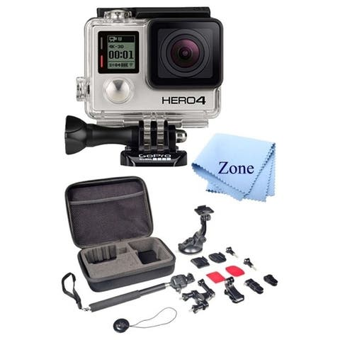 GoPro HERO 4 Black Edition 12MP Waterproof Sports & Action Starter Camera Bundle