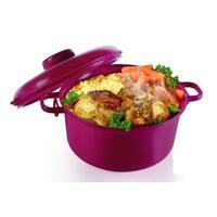 Microwave Pressure Cooker - Microwave Rice Cooker - Burgundy