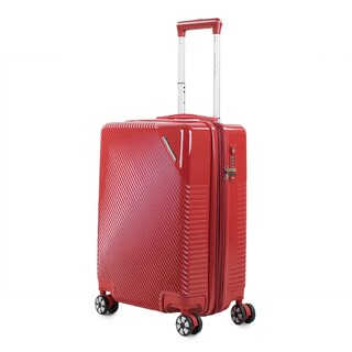 AGT Rockies 20-inch Carry-On TSA Lock Expandable Hardside Spinner Suitcase (Option: Red)