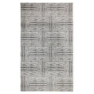 Dynamic Textiles Handmade Augur Grey Patchwork Indoor/Outdoor Area Rug - 8' x 11'