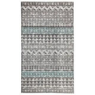 Dynamic Textiles Augur Grey/Blue Indoor/Outdoor Area Rug - 8' x 11'