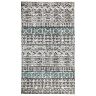 Augur Grey/Blue Indoor/Outdoor Area Rug - 5x8