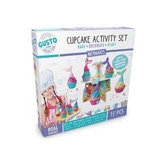 Gusto Mermaids Cupcake Activity Set - Bake, Decorate, Play