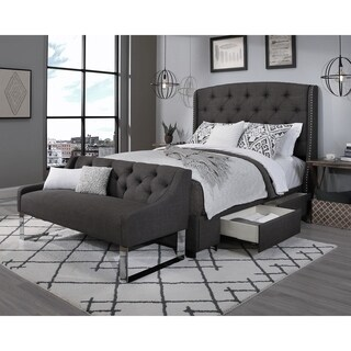 Republic Design House Steel-Core Peyton Storage Bed with Sofa Bench