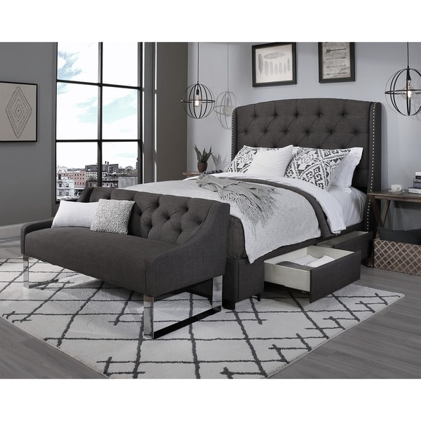 Sofa Bed With Storage For Sale: Shop Republic Design House Steel-Core Peyton Storage Bed