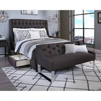 Republic Design House Steel-Core Cambridge Storage Bed with Tufted Sofa Bench