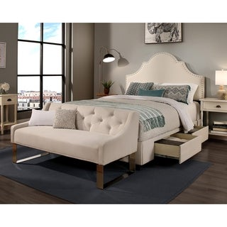 Republic Design House Steel-Core Portman Storage Bed with Tufted Sofa Bench