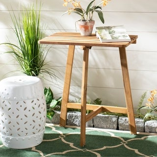 Safavieh Outdoor Living Benton Balcony Table - Teak