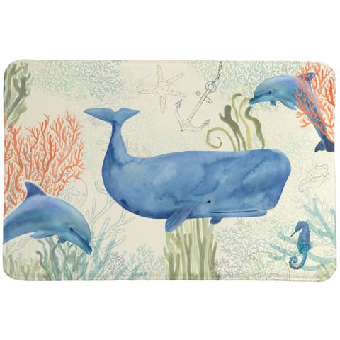 Laural Home Whimsical Sea Memory Foam Mat