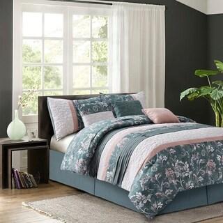 Izalia Harlow Blush 7-piece Queen Size Comforter Set (As Is Item)