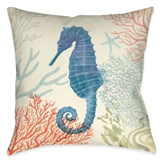 Laural Home Whimsical Seahorse Indoor Throw Pillow