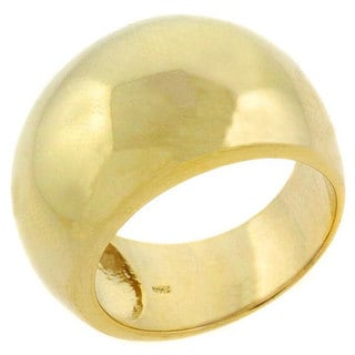 Mondevio 18k Gold over Sterling Silver Cast Dome Ring (Option: 10)