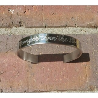 "Handmade ""Be Stronger Than The Storm"" Cuff Bracelet (USA)"