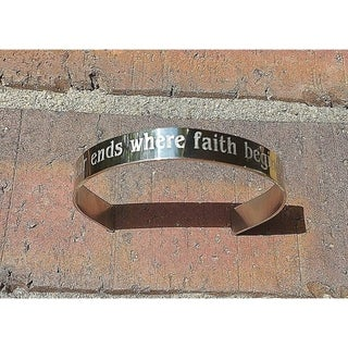 "Handmade ""Fear Ends Where Faith Begins"" Cuff Bracelet (USA)"