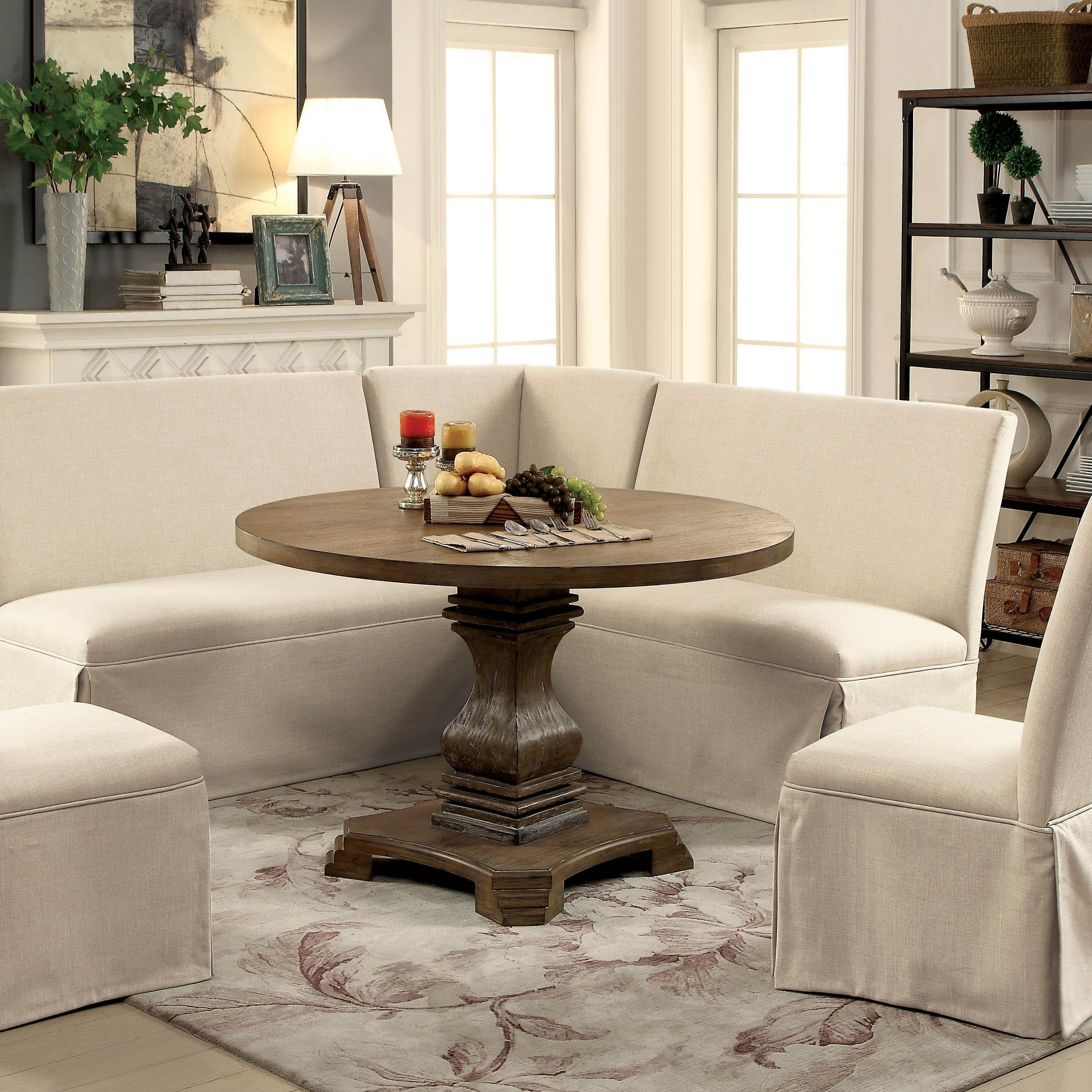 The Gray Barn Upper Glen Rustic 48 Inch Round Dining Table