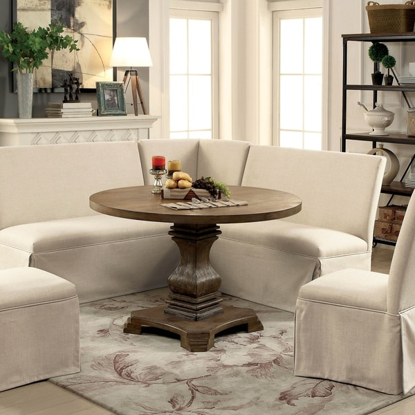 The Gray Barn Upper Glen Rustic 48-inch Round Dining Table