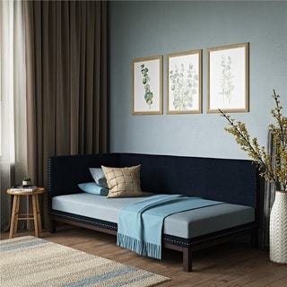 Link to DHP Mid-Century Upholstered Daybed in Blue Linen Similar Items in Kids' & Toddler Furniture