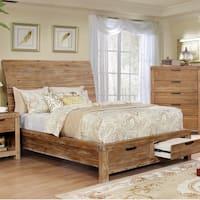 Delton II Rustic Weathered Light Oak Storage Bed by FOA