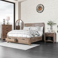 Furniture of America Delton I Rustic USB Storage Bed