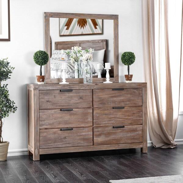 Shop Furniture Of America Delton Rustic 2 Piece Light Oak