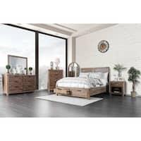 Delton Rustic Light Oak 2-piece Dresser and Mirror Set by FOA