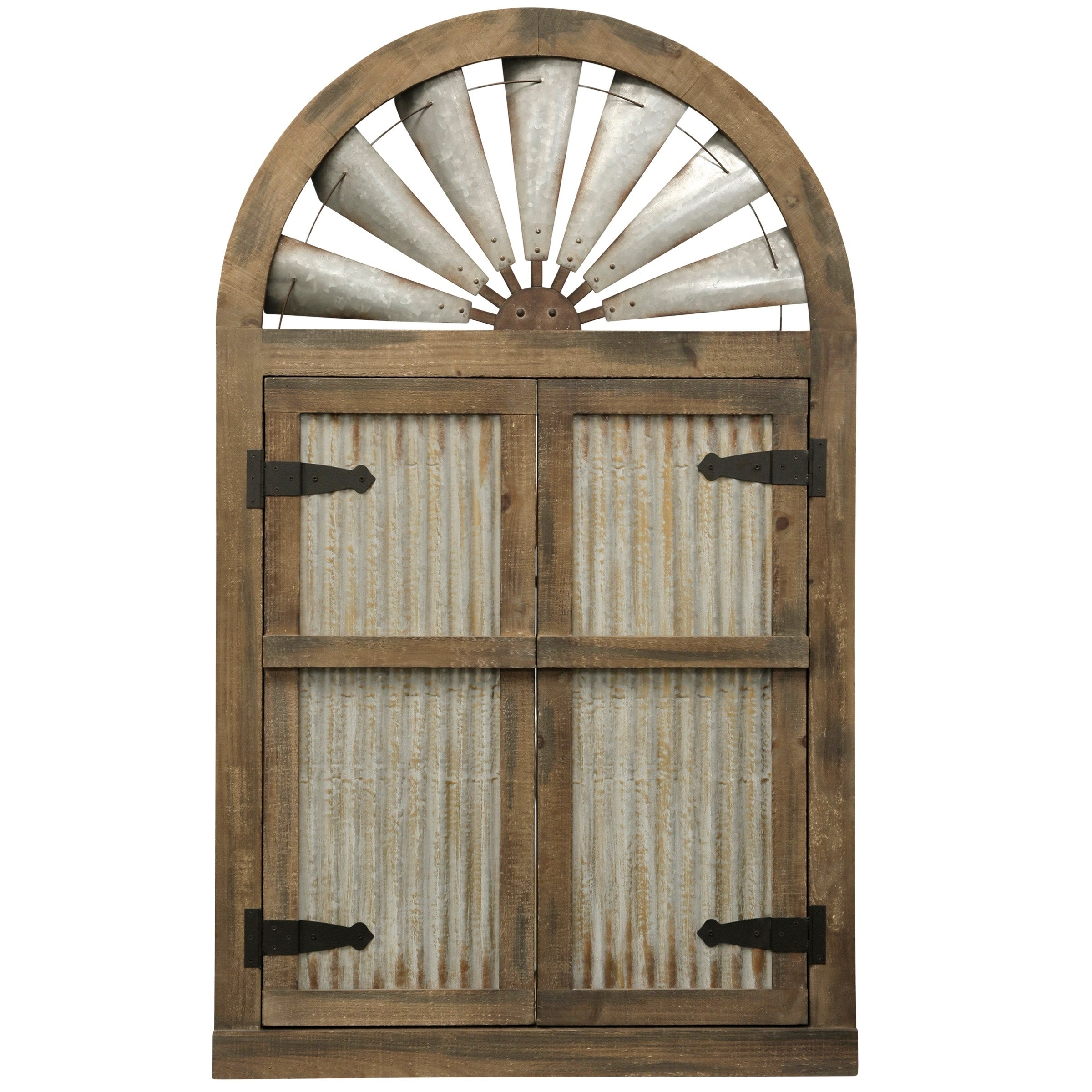 Arched Wood Doors Wall Décor On