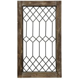 Wood-Framed Metal Grate I Wall Décor