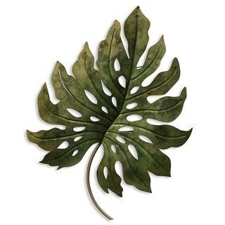 Metal Green Leaf Wall Décor