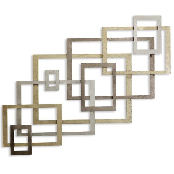 Square Metal Gold Wall Decor