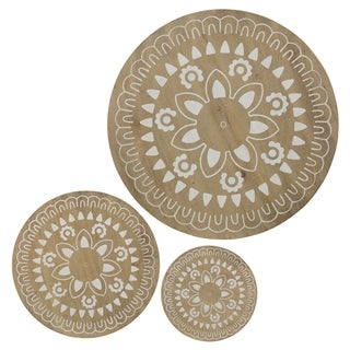 Round Wood Wall Décor (Set of 3)