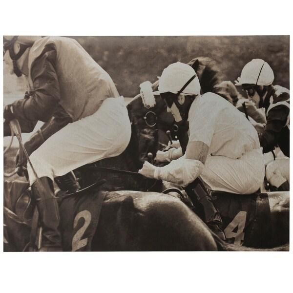 Belmont Jockeys Traditional Equestrian Aluminum Panel Art Print