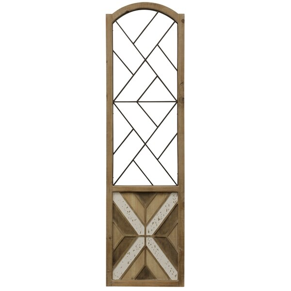 Aspire Metal And Wood Traditional Arch Scroll Wall Art