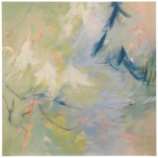 Image Conscious Abstract Green Handpainted Canvas Wall Art Print