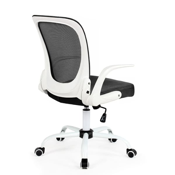 Shop Modern Home Omni Mid Back Office Chair Overstock 22251645 White Black