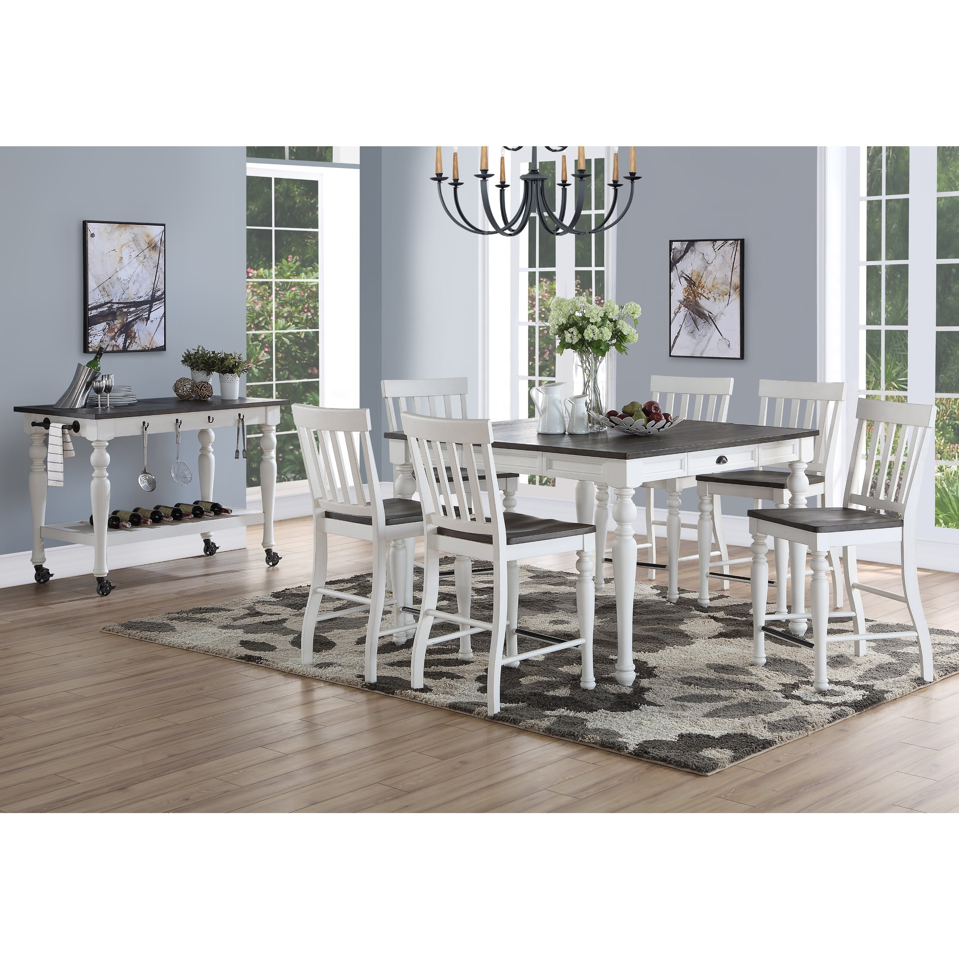 Jillian Farmhouse Counter Height Dining Set By Greyson Living On Sale Overstock 22251700