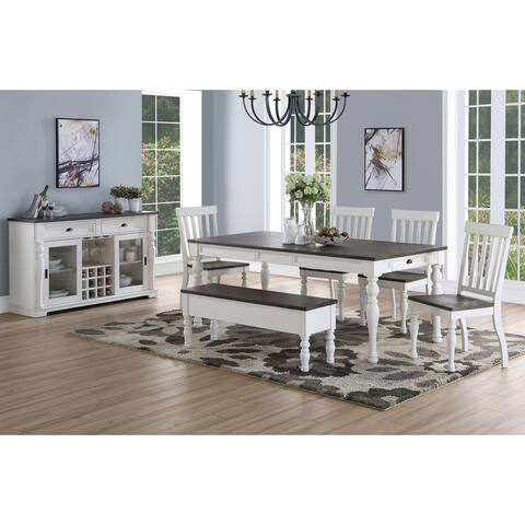 Jillian Farmhouse Distressed Two-tone Dining Set by Greyson Living