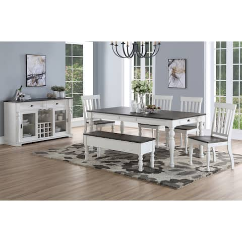 Jillian Farmhouse Two Tone Dining Set By Greyson Living
