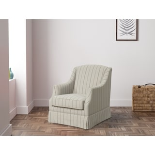 Link to The Gray Barn Wiltshire Nature and Grey Stripe Swivel Glider Chair Similar Items in Living Room Chairs