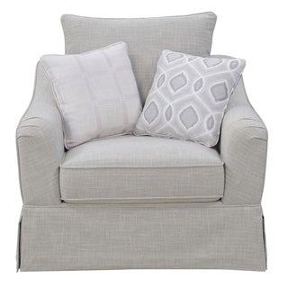 Emerald Home Gabrielle Morning Gray Swivel Accent Chair
