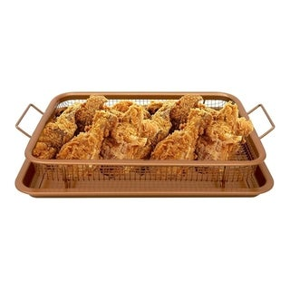 Link to Oven Mesh Baking Tray with Basket Durable Titanium Construction Similar Items in Cookware