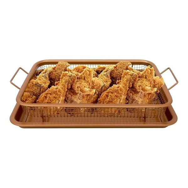 Oven Mesh Baking Tray with Basket Durable Titanium Construction. Opens flyout.